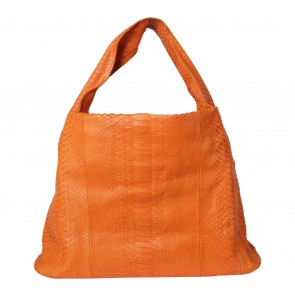 Kamali Orange Snakeskin Shoulder Bag