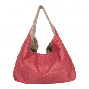 Kamali Red Snakeskin Shoulder Bag