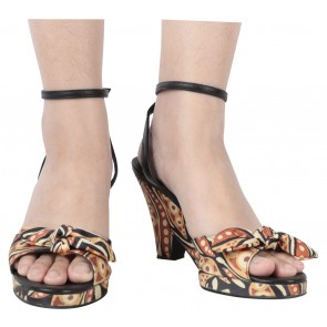 Sinela Multi Colour Ankle Strap Heels