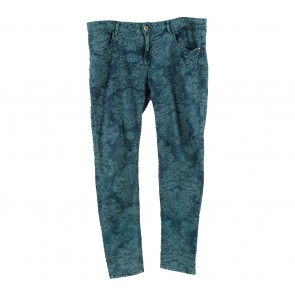 Zara Blue And Dark Blue Patterned Pants