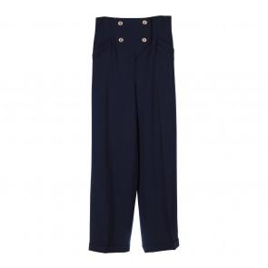 Byblos Blue Buttoned Pants
