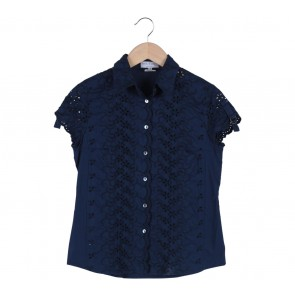Paul & Joe Blue Scallop Shirt