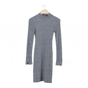 H&M Grey Knitted Mini Dress