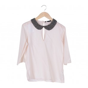 Zara Pink Beaded Blouse