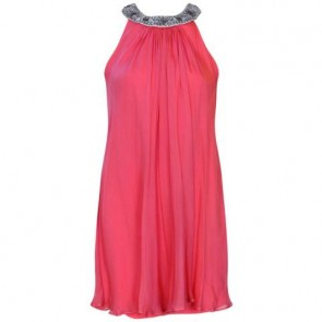 Badgley Mischka Pink Midi Dress