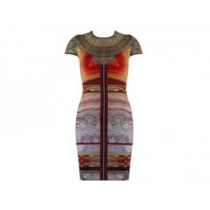 Clover Canyon Orange Midi Dress