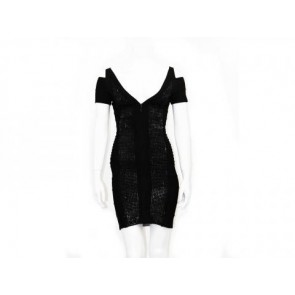 Herve Leger Black Midi Dress