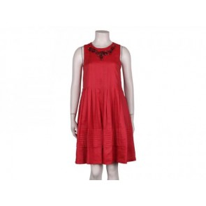 Robert Rodriguez Red Midi Dress