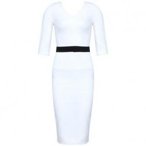 Victoria Beckham White Midi Dress