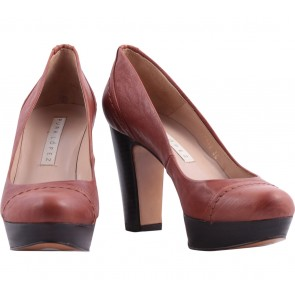 Pura Lopez Brown Heels