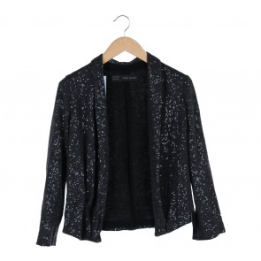 Zara Grey Sequins Blazer