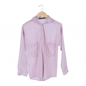 Zara Pink Pocket Shirt
