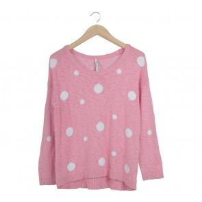 Stradivarius Pink Knit Sweater