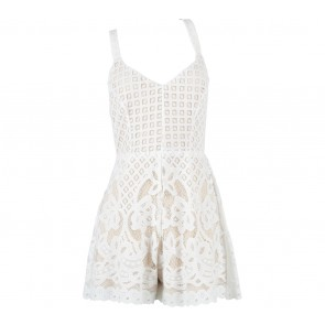 New Look White And Cream Lace Jumpsuit