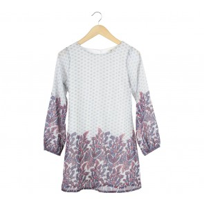 Yumi Grey Floral Mini Dress