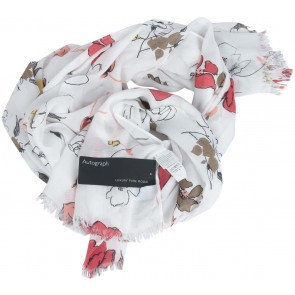 Marks & Spencer White Floral Scarf