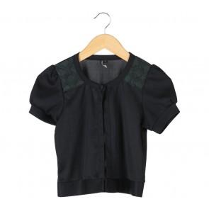 Topshop Black Crop Cardigan