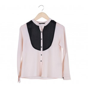 Shop At Velvet Cream And Black Shirt