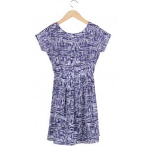 White and Purple MIni Dress