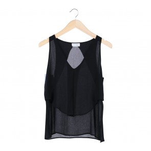 Zara Black Sleeveless Blouse