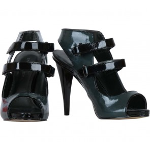 Charles and Keith Dark Green And Black Heels