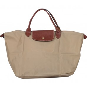 Longchamp Brown Le Pliage Medium Tote Bag