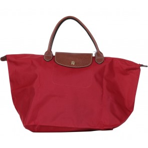 Longchamp Red Le Pliage Medium Tote Bag