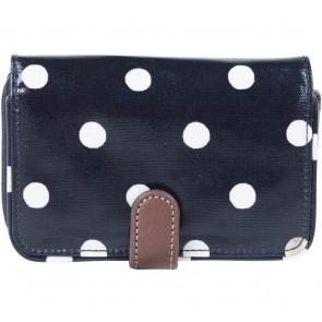 Cath Kidston Dark Blue And White Polka Dot Wallet