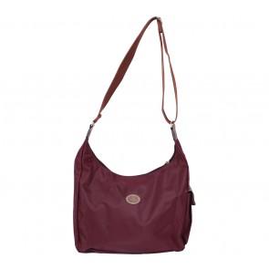 Longchamp Maroon Hobo Sling Bag
