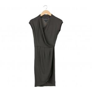 Banana Republic Dark Green Wrap Midi Dress