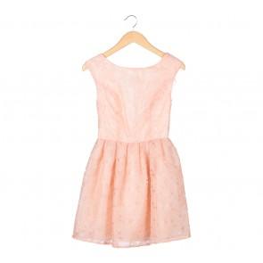 Topshop Peach Floral Low Back Mini Dress