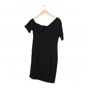 Cocoon Black Midi Dress
