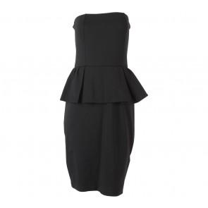 Mango Black Tube Peplum Mini Dress