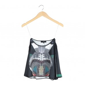 MDS Multi Colour Cropped Blouse