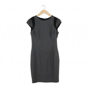 Zara Grey And Black Mini Dress