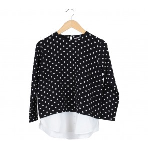 Cotton Ink Black And White Polka Dot Blouse