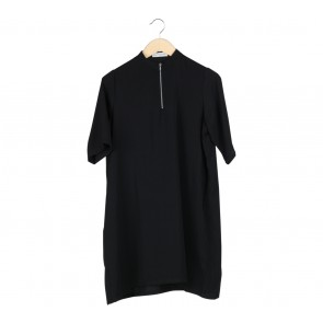 Cotton Ink Black Midi Dress