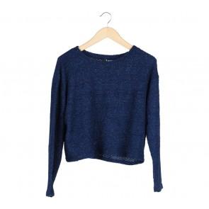 Divided Dark Blue Glittery Sweater