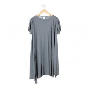 Noki Grey Layered Midi Dress