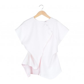 White And Pink Asymmetric Blouse