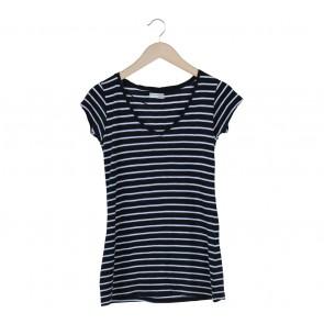 Zara Black And White Striped T-Shirt