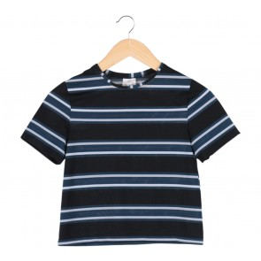 Petite Cupcake Black Striped T-Shirt