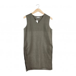Beatrice Clothing Dark Green Slit Sleeveless