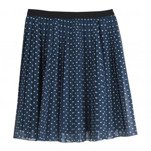 UNIQLO Dark Blue And White Polka Dot Skirt
