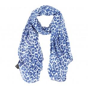 H&M Blue Leopard Scarf