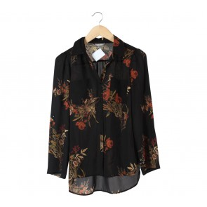 Marks & Spencer Black Floral Shirt