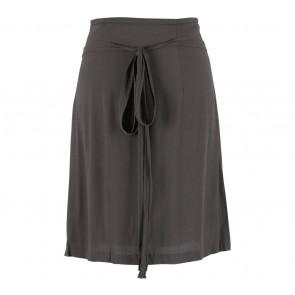 Zara Grey Tied Midi Skirt
