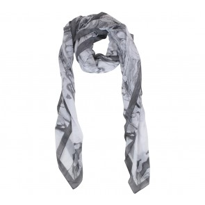 H&M Grey And White Abstract Scarf