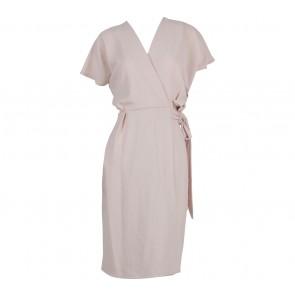Topshop Pink Wrap Midi Dress