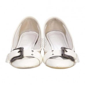 Burberry White Flats